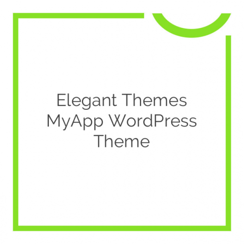 Elegant Themes MyApp WordPress Theme 4.4.6