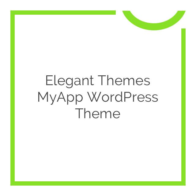 Elegant Themes MyApp WordPress Theme 4.4.6
