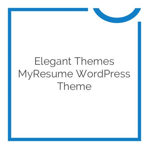 Elegant Themes MyResume WordPress Theme 4.2.6