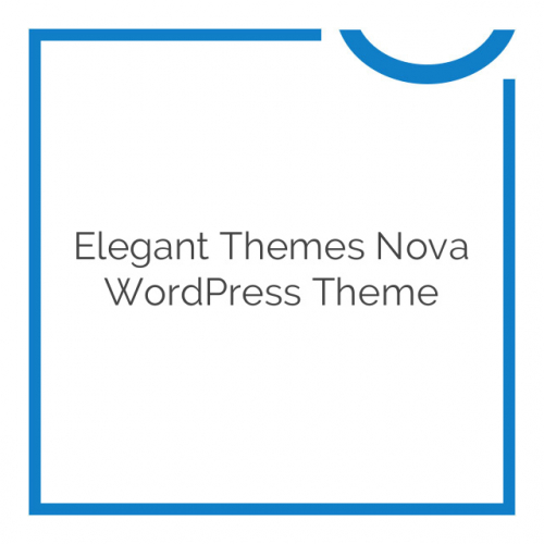 Elegant Themes Nova WordPress Theme 4.2.7