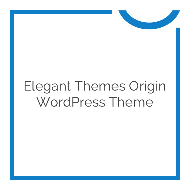 Elegant Themes Origin WordPress Theme 2.4.7