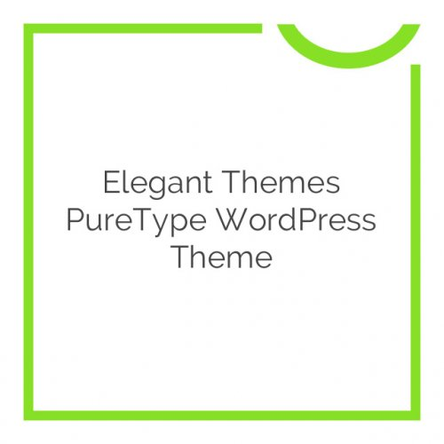Elegant Themes PureType WordPress Theme 6.3.6