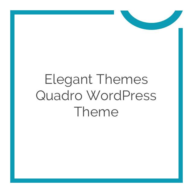 Elegant Themes Quadro WordPress Theme 5.1.6