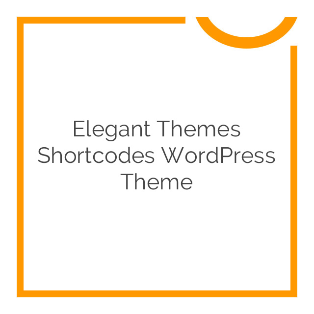 Elegant Themes Shortcodes WordPress Theme 1.2.1