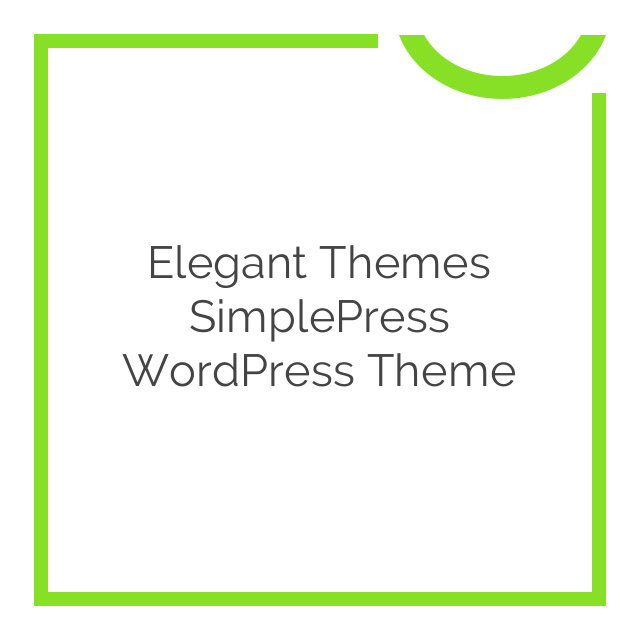 Elegant Themes SimplePress WordPress Theme 5.5.7