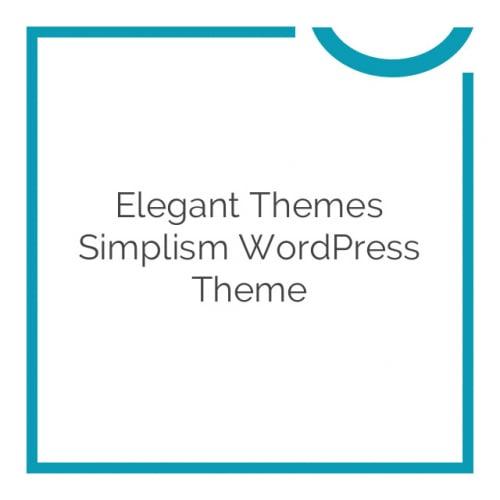 Elegant Themes Simplism WordPress Theme 5.1.4
