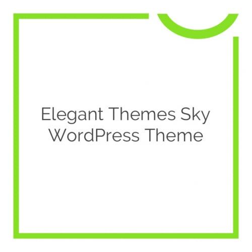 Elegant Themes Sky WordPress Theme 2.9.6