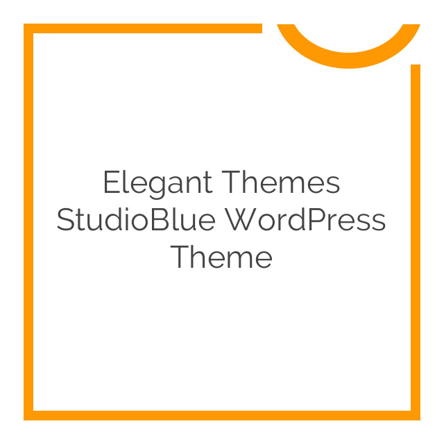Elegant Themes StudioBlue WordPress Theme 5.1.6