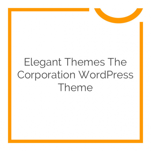 Elegant Themes The Corporation WordPress Theme 4.7.6