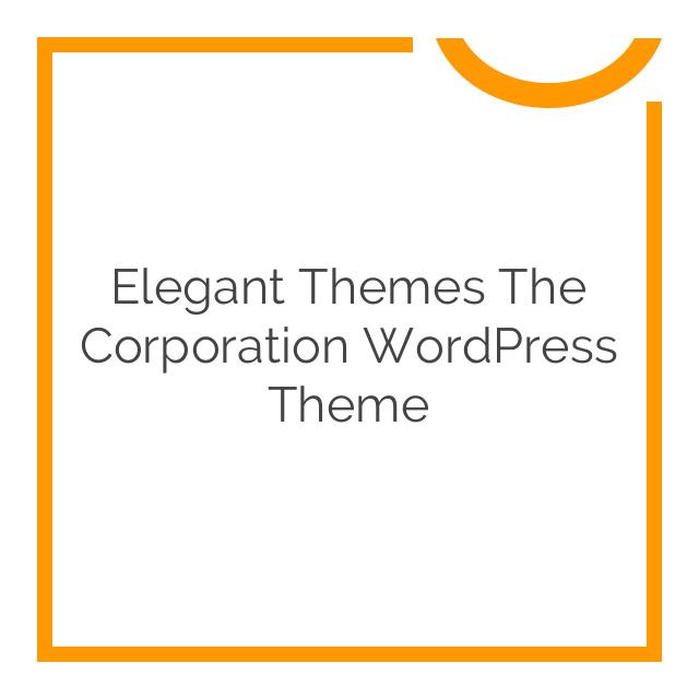 Elegant Themes The Corporation WordPress Theme 4.7.6