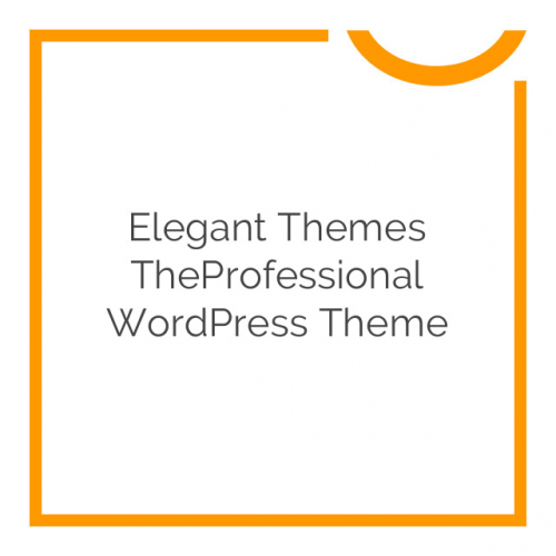 Elegant Themes TheProfessional WordPress Theme 4.0.6