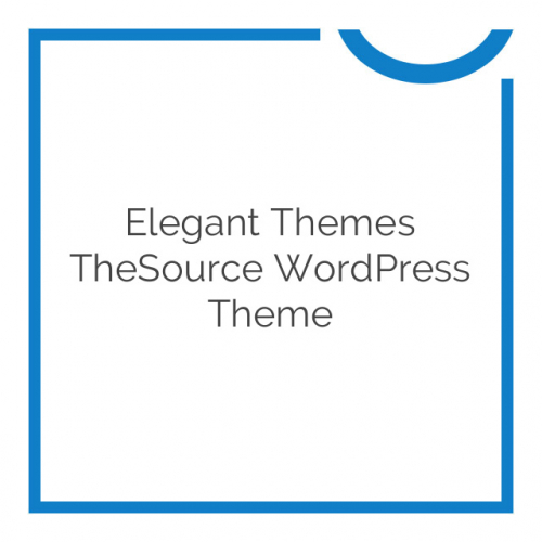 Elegant Themes TheSource WordPress Theme 4.8.6