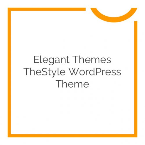 Elegant Themes TheStyle WordPress Theme 4.2.7