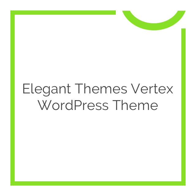 Elegant Themes Vertex WordPress Theme 1.8.7
