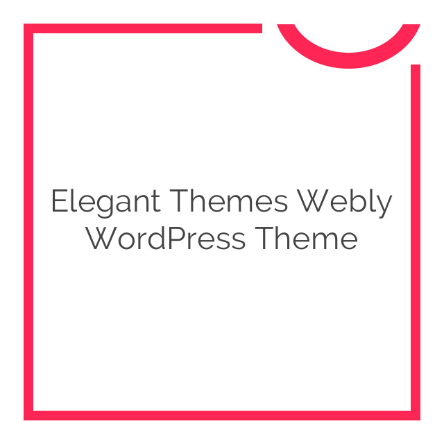 Elegant Themes Webly WordPress Theme 3.5.6