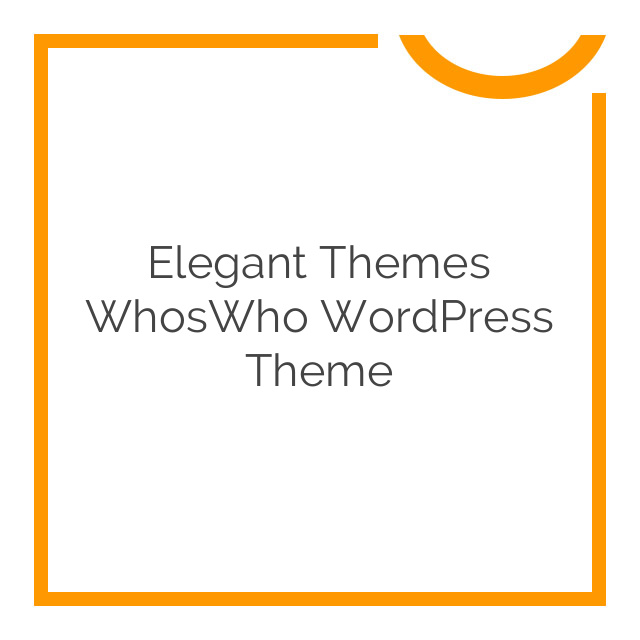 Elegant Themes WhosWho WordPress Theme 5.4.6