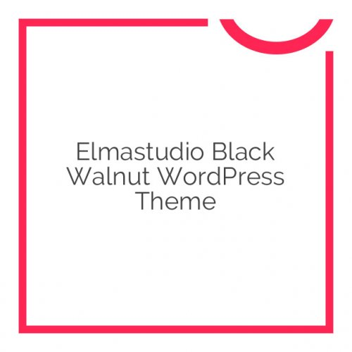 Elmastudio Black Walnut WordPress Theme 1.0.3