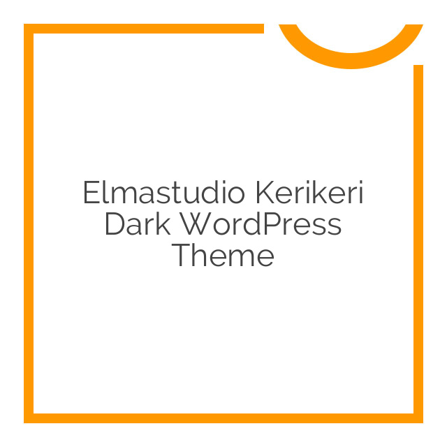 Elmastudio Kerikeri Dark WordPress Theme 1.0.2