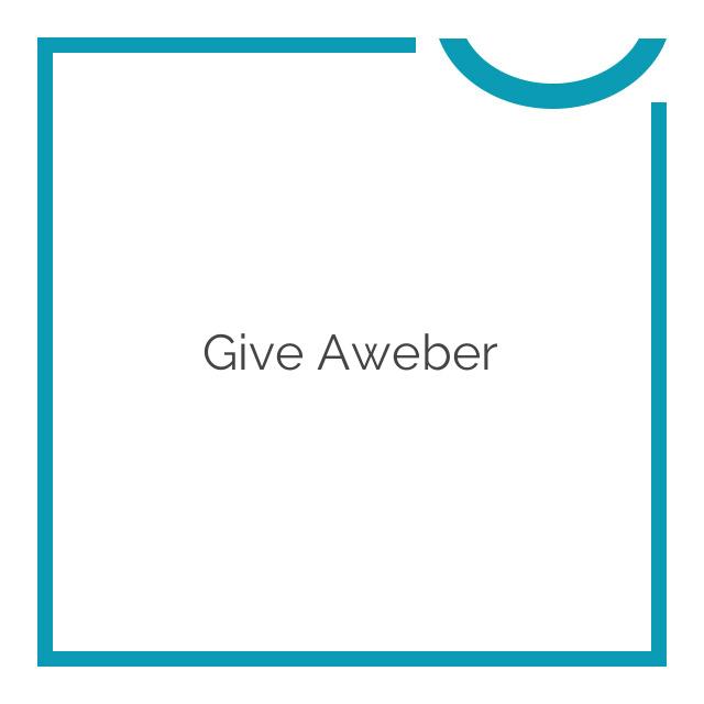 Give Aweber 1.0.2