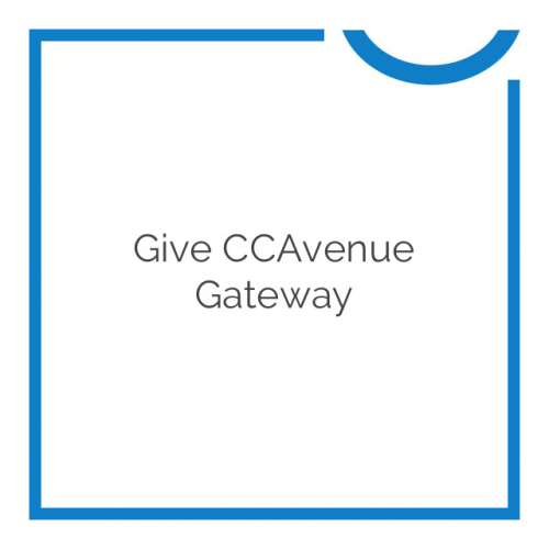 Give CCAvenue Gateway 1.0.0