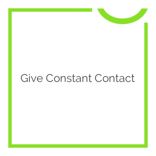 Give Constant Contact 1.2.1
