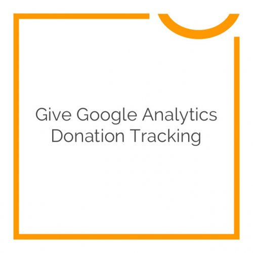 Give Google Analytics Donation Tracking 1.1.1