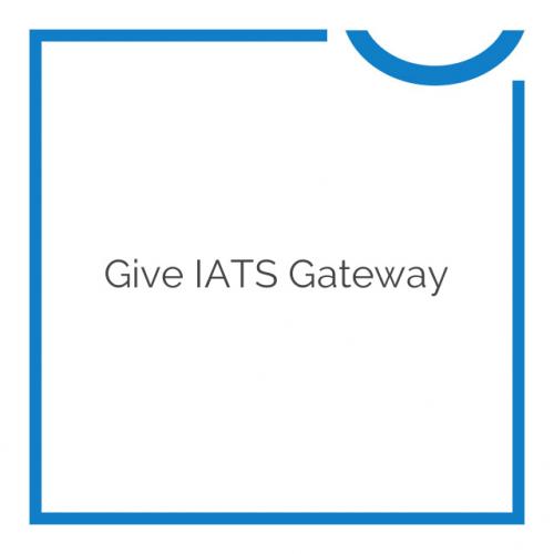 Give iATS Gateway 1.0.1