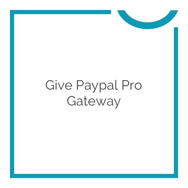 Give Paypal Pro Gateway 1.1.4