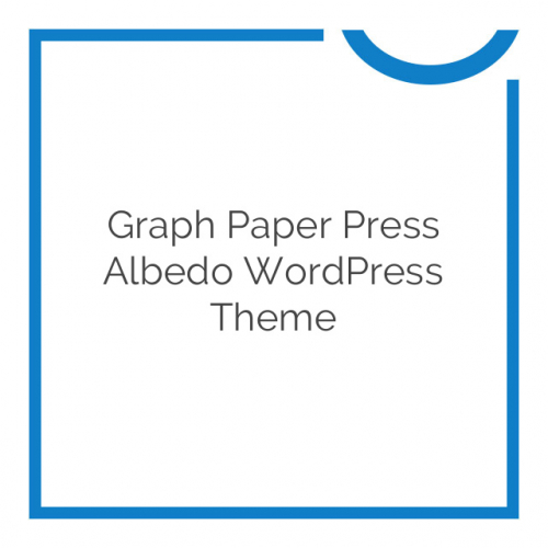Graph Paper Press Albedo WordPress Theme 1.3.6