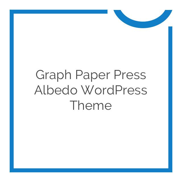 Graph Paper Press Albedo WordPress Theme 1.3.6
