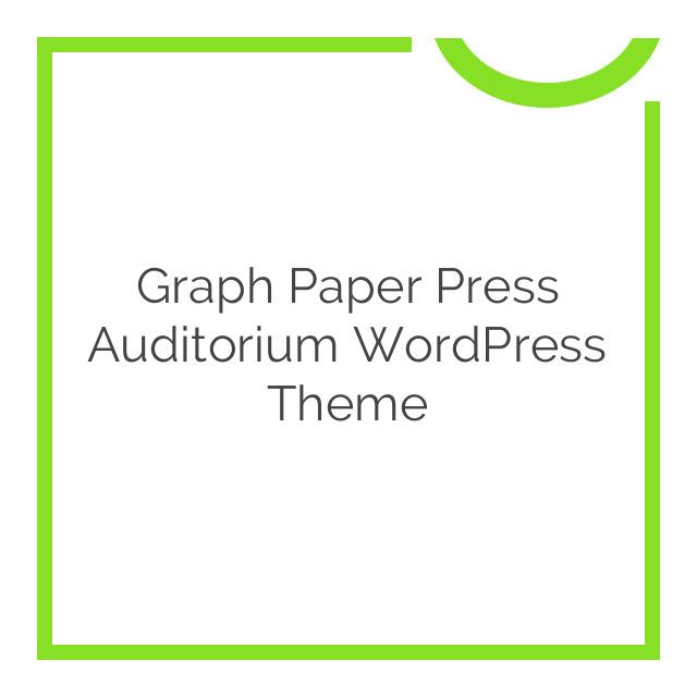 Graph Paper Press Auditorium WordPress Theme 1.2.8