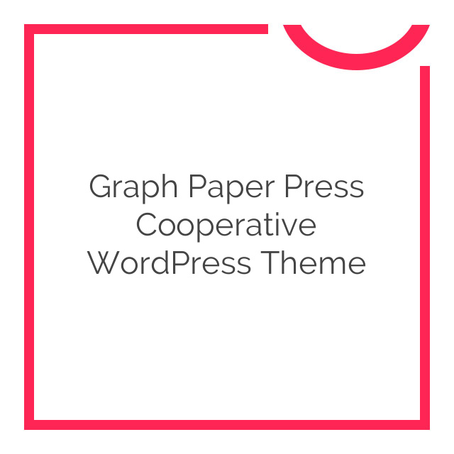 Graph Paper Press Cooperative WordPress Theme 1.0.5