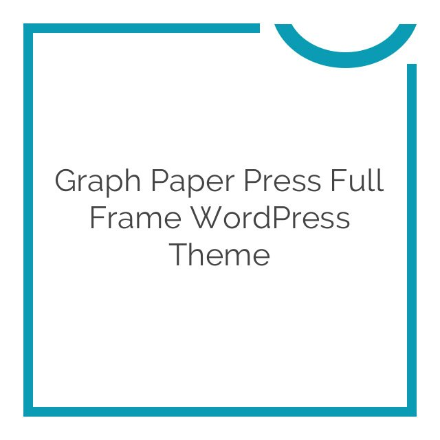 Graph Paper Press Full Frame WordPress Theme 10.0.8