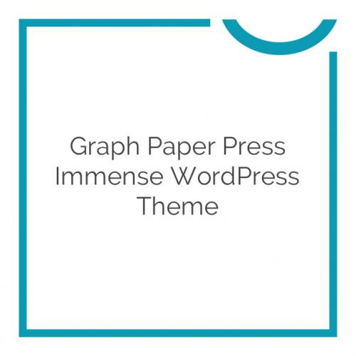 Graph Paper Press Immense WordPress Theme 3.0