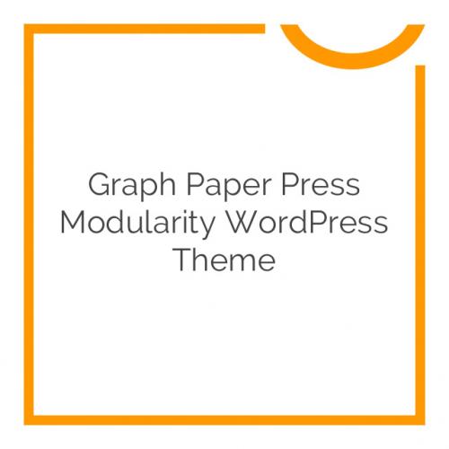 Graph Paper Press Modularity WordPress Theme 4.0.6
