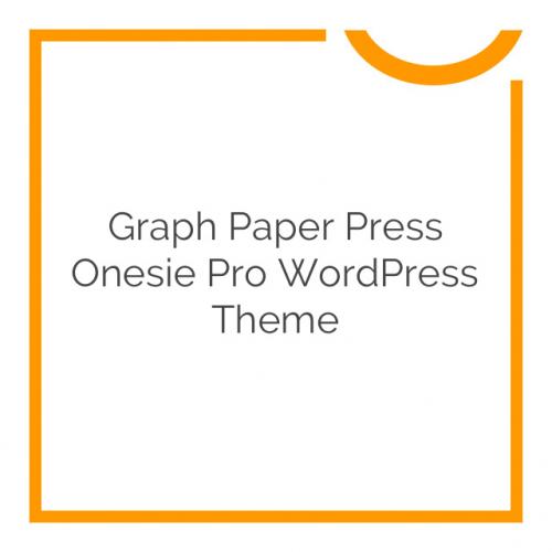 Graph Paper Press Onesie Pro WordPress Theme 1.0.4