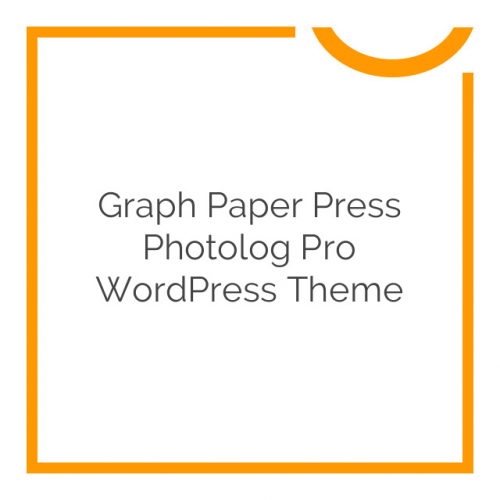 Graph Paper Press Photolog Pro WordPress Theme 1.0.2