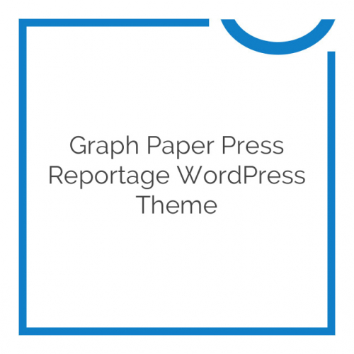Graph Paper Press Reportage WordPress Theme 1.1.8