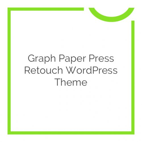 Graph Paper Press Retouch WordPress Theme 1.0.5