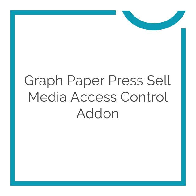 Graph Paper Press Sell Media Access Control Addon 1.1