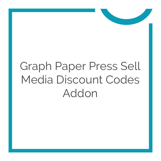 Graph Paper Press Sell Media Discount Codes Addon 2.1.5
