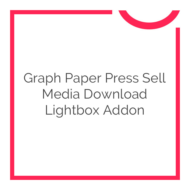 Graph Paper Press Sell Media Download Lightbox Addon 1.0.2