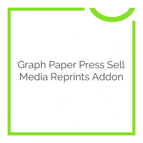Graph Paper Press Sell Media Reprints Addon 2.1.9
