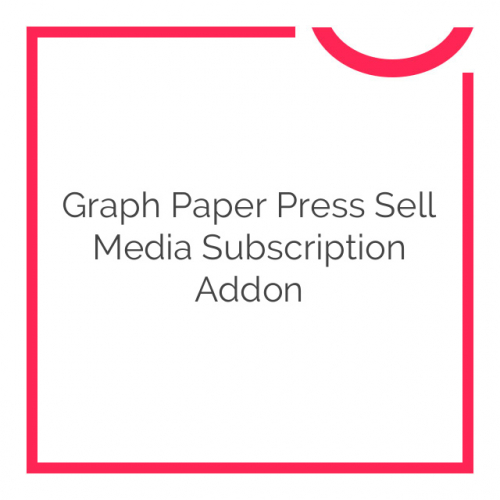 Graph Paper Press Sell Media Subscription Addon 1.0.3