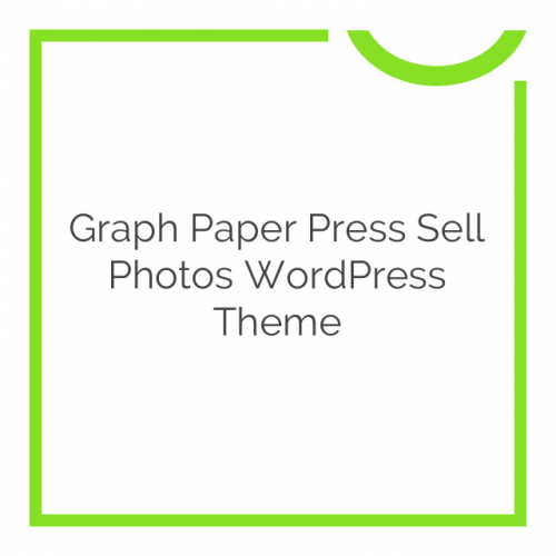 Graph Paper Press Sell Photos WordPress Theme 1.2.1