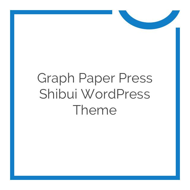 Graph Paper Press Shibui WordPress Theme 1.1