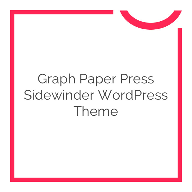 Graph Paper Press Sidewinder WordPress Theme 3.0.2