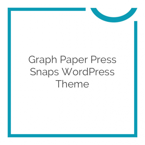 Graph Paper Press Snaps WordPress Theme 1.0.4