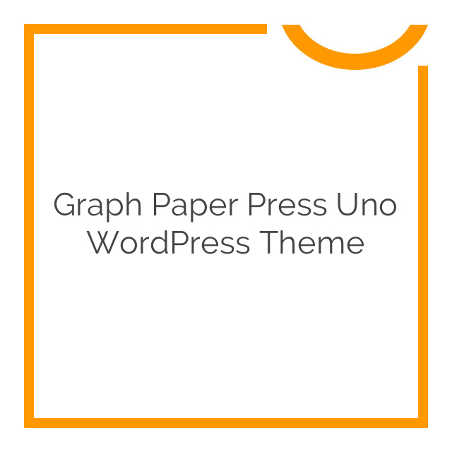 Graph Paper Press Uno WordPress Theme 3.0.2