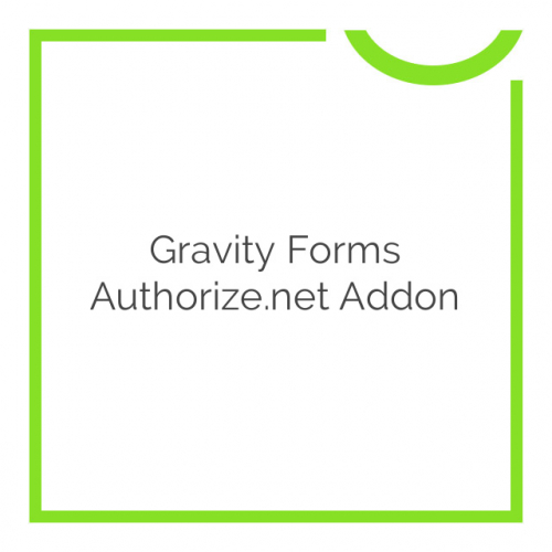 Gravity Forms Authorize.net Addon 2.3.4